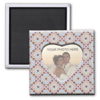 Group customized image. Bottom of Morocco 2 Inch Square Magnet