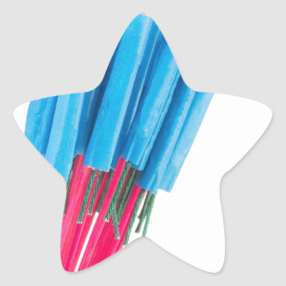 Group fire arrows for New years eve Star Sticker