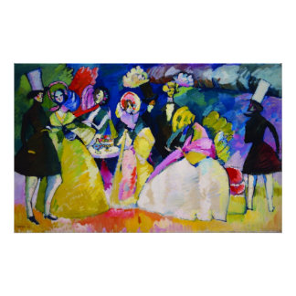 Group in Crinolines by Wassily Kandinsky Poster