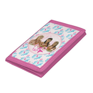 Group In Pink Bubble Trifold Wallets