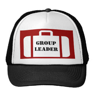 Group Leader on Suitcase Hat