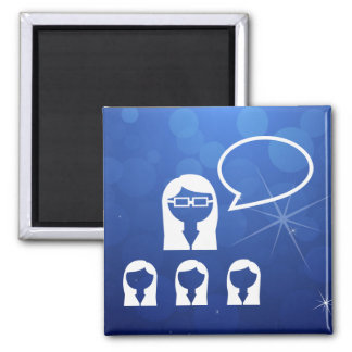 Group Leaders Icon 2 Inch Square Magnet