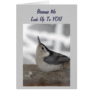 """GROUP LOOKS UP TO YOU """"40TH"""" CARD"""