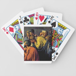 group of ancient folks bicycle playing cards