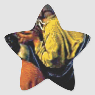 group of ancient folks star sticker