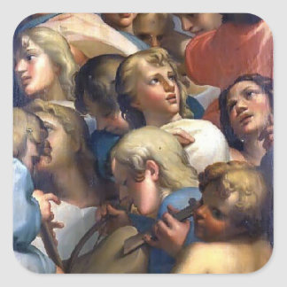 Group of angels from Corrège by Correggio Stickers