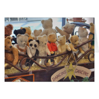 Group Of Antique Teddy Bears Card
