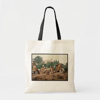 Group of Arabs, Algiers, Algeria vintage Photochro Budget Tote Bag
