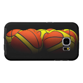 group of basketballs in light dim samsung galaxy s6 case