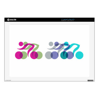 """Group of Bikers Decals For 17"""" Laptops"""
