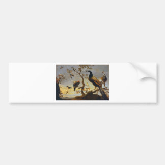 Group of Birds Perched on Branches  Frans Snyders Car Bumper Sticker
