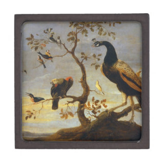 Group of Birds Perched on Branches  Frans Snyders Jewelry Box