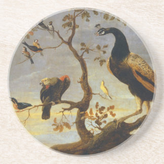 Group of Birds Perched on Branches  Frans Snyders Sandstone Coaster