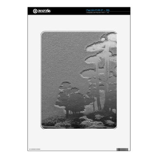 Group of Bonsai Trees in Metallic Gray Decals For iPad