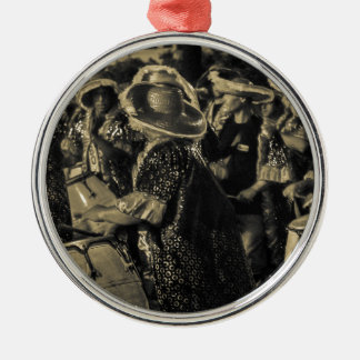 Group of Candombe Drummers at Carnival Parade Metal Ornament