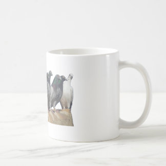 Group of carrier pigeons classic white coffee mug
