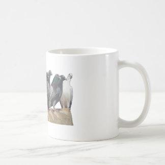 Group of carrier pigeons coffee mug