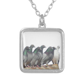 Group of carrier pigeons personalized necklace