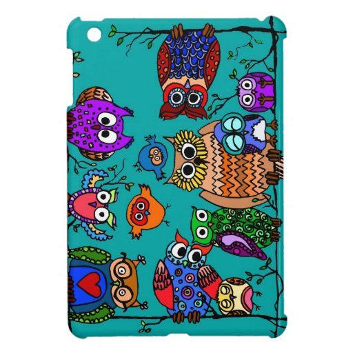 Group of Cartoon Owls Cover For The iPad Mini