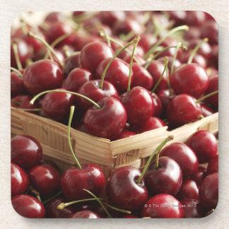 Group of cherries in punnett beverage coasters