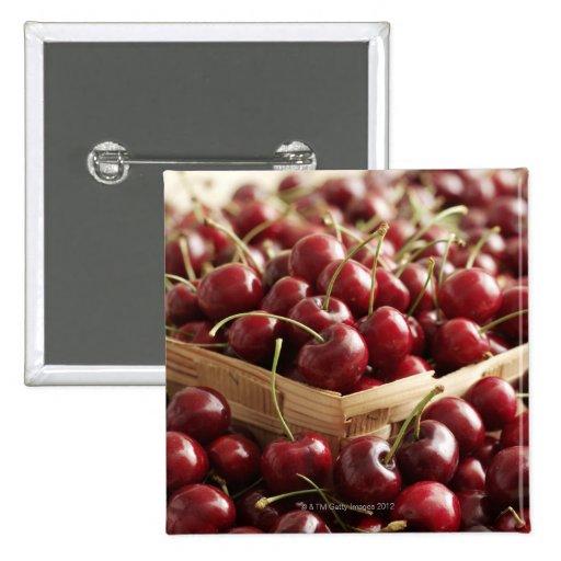Group of cherries in punnett pins