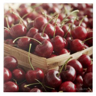Group of cherries in punnett large square tile