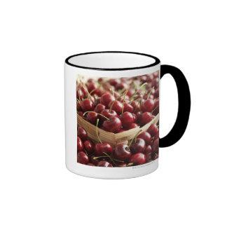 Group of cherries in punnett ringer coffee mug