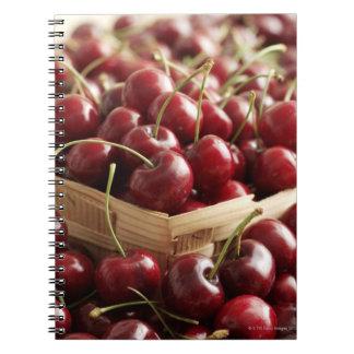 Group of cherries in punnett spiral notebooks