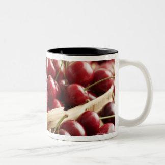 Group of cherries in punnett Two-Tone coffee mug