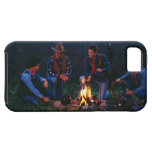 Group of cowboys around campfire iPhone 5 covers