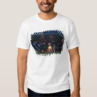 Group of cowboys around campfire t-shirt