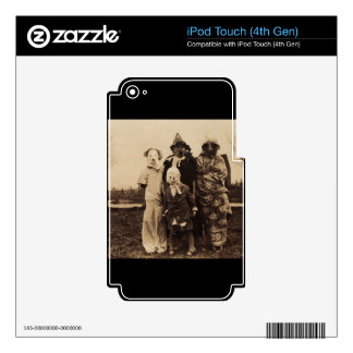 Group of Creepy iPod Touch 4G Decals
