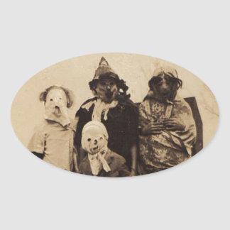 Group of Creepy Oval Sticker