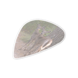 Group of Deer White Delrin Guitar Pick
