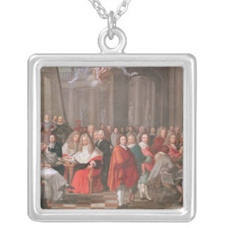 Group of Distinguished Gentlemen Born  Abbeville Square Pendant Necklace