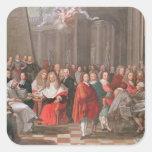 Group of Distinguished Gentlemen Born  Abbeville Square Sticker