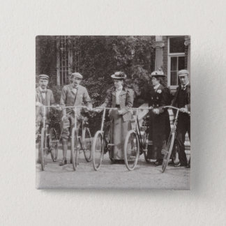 Group of Edwardian bicyclists, early 1900s (b/w ph Button
