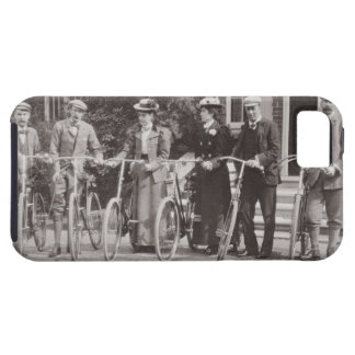 Group of Edwardian bicyclists, early 1900s (b/w ph iPhone SE/5/5s Case