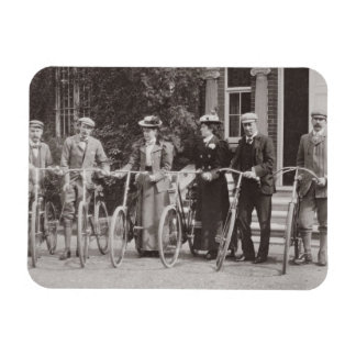 Group of Edwardian bicyclists, early 1900s (b/w ph Flexible Magnets