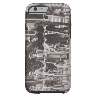 Group of Edwardian bicyclists, early 1900s (b/w ph Tough iPhone 6 Case