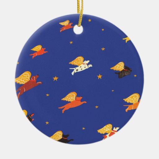 group of flying dogs Ornament