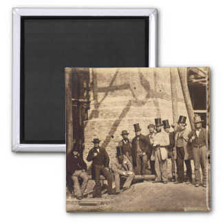 Group of Foremen, 1862 (photo) 2 Inch Square Magnet
