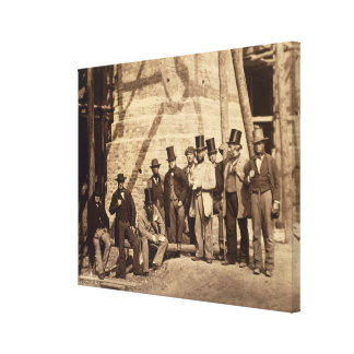 Group of Foremen, 1862 (photo) Canvas Print