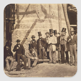 Group of Foremen, 1862 (photo) Square Sticker