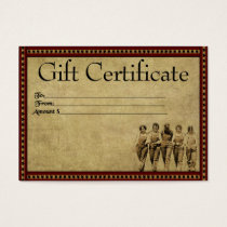 Group Of Gals- Prim Gift Certificate Cards