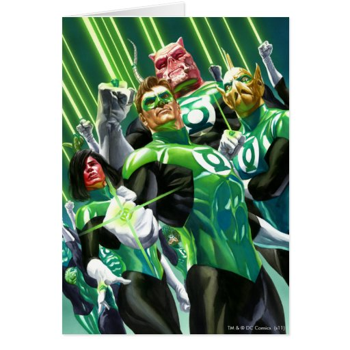 Group of Green Lanterns Greeting Card