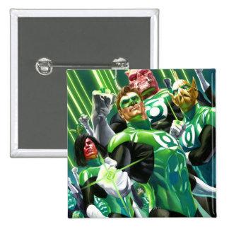 Group of Green Lanterns Pinback Button