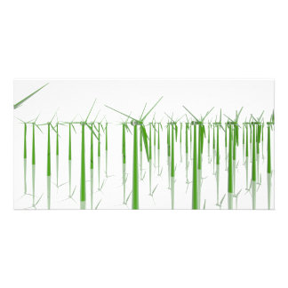 Group of green windmills card