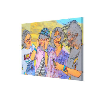 Group of Happy Ladies Picture Canvas Print