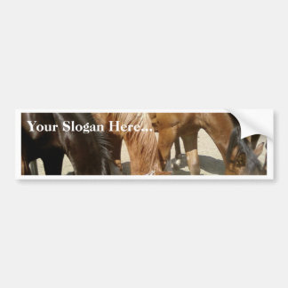 Group Of Horses Car Bumper Sticker